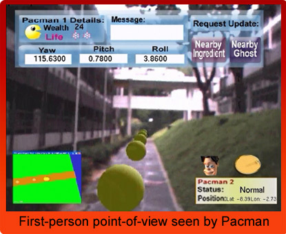 Human pacman in action: pacman's eye view