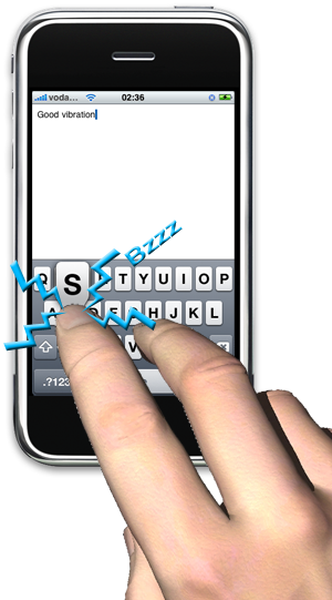 iPhone haptickeyboard